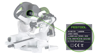 IMPORTANT SAFETY NOTICE Affected products: Festool mitre saws Kapex KS 88 & Kapex KS 120 Production period 2007 to 02/2010
