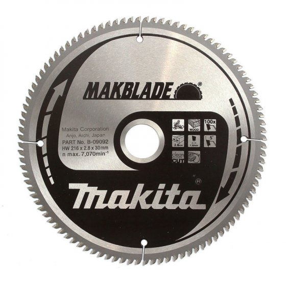 MAKITA B-09092 216X30MM 100Z MAKBLADE TCT SAW BLADE 2.8MM