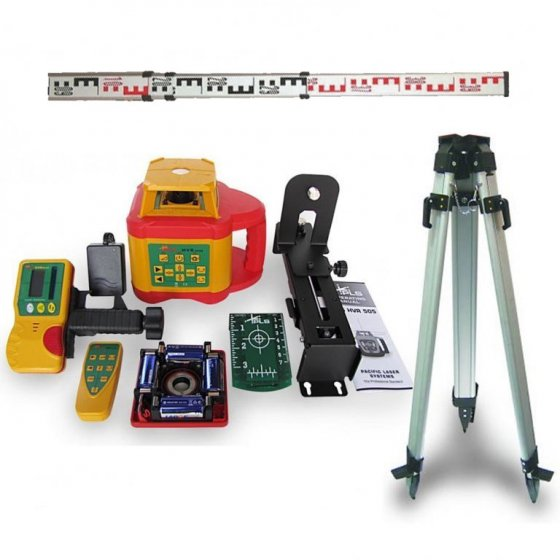 PLS HVR505G HIGHLY VISIBLE GREEN BEAM ROTARY LASER LEVEL WITH TRIPOD