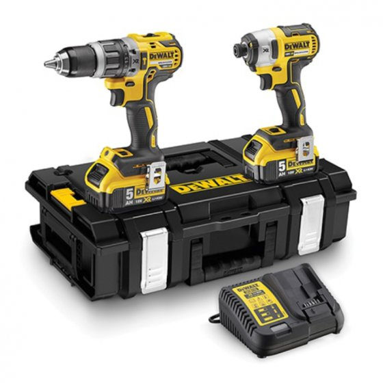 DEWALT DCK266P2 18V LI-ION BRUSHLESS TWIN PACK WITH 2 X 5.0AH LI-ION BATTERIES IN TOUGH SYSTEM