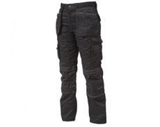 APACHE GREY/BLACK KNEE PAD TROUSERS