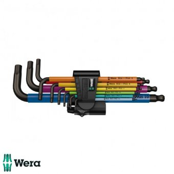 WERA HEX-PLUS 9 PIECE METRIC L-KEY SET COLOUR CODED