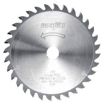 Mafell 160mm x 20mm TCT Wood Saw Blade - 32Z
