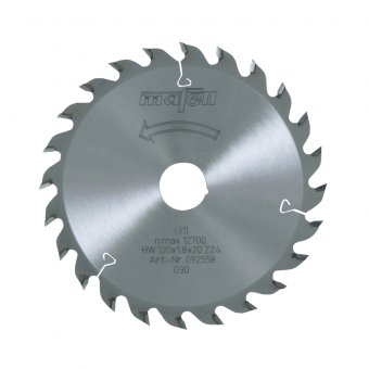 Mafell 120mm x 20mm TCT Wood Saw Blade - 24Z