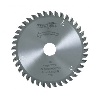 Mafell 120mm x 20mm TCT Laminate Saw Blade - 40Z