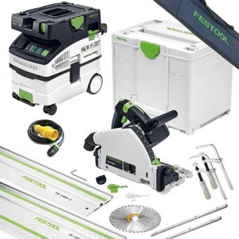 FESTOOL TS55F AND CTL MIDI 110V PLUNGE SAW AND DUST EXTRACTOR SET