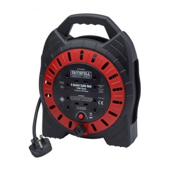 Faithfull XMS1910CABLE Power Plus Cable Reel 10m 13A