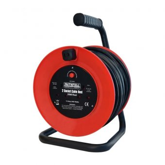 Faithfull XMS1920CABLE Power Plus Cable Reel 20m 13A