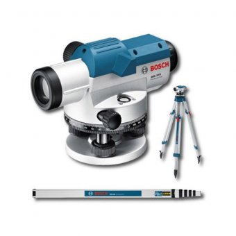 BOSCH 061599404R Dumpy Level Kit With GOL 20D Professional Optical Level, BT 180 And GR500