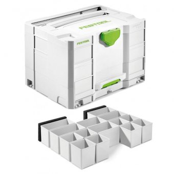 FESTOOL 200117 SYS-COMBI 2 SYSTAINER WITH DRAW + 201124 INSERT BOX SET