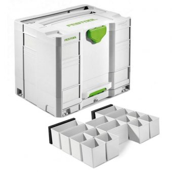 FESTOOL 200118 SYS-COMBI 3 SYSTAINER WITH DRAW + 201124 INSERT BOX SET
