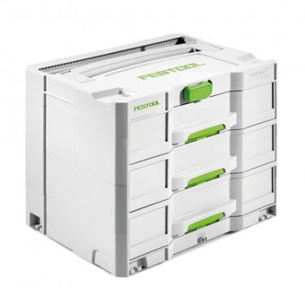 FESTOOL 200119 SYS4TL-SORT/3 396 X 296 X 32 THREE DRAWERS SYSTAINER
