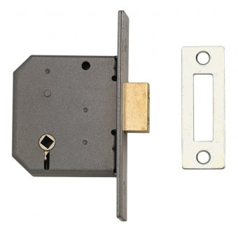 UNION 2126 3 LEVER BATHROOM DEADLOCK SC SATIN CHROME