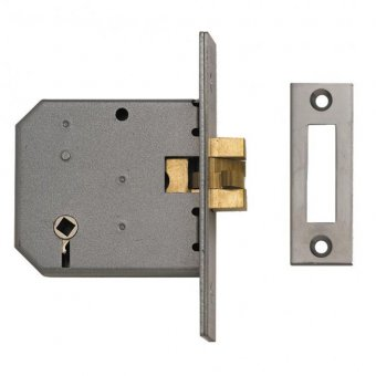 UNION 2426 3 LEVER SATIN CHROME SLIDING BATHROOM CLAWBOLT LOCK