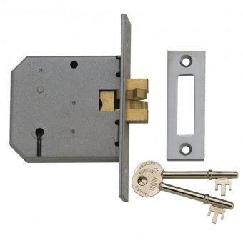 UNION 2477 3 LEVER SLIDING MORTICE DEADLOCK