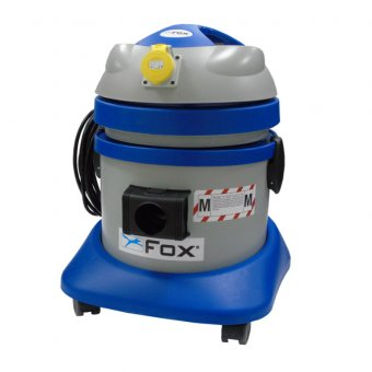 FOX F50-812-110 21 LITRE 110V M CLASS VACUUM EXTRACTOR WITH POWER TAKE OFF SOCKET