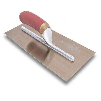 Marshalltown Gold Stainless Steel Plasterers Trowel 13 x 5 Inch