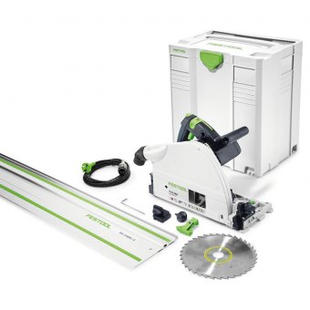 FESTOOL 561259 TS75 EQ-PLUS PLUNGE SAW WITH FS/1400 1.4M GUIDE RAIL 110V