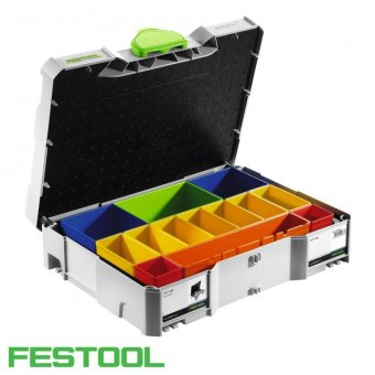 FESTOOL SYS 1 BOX T-LOC SYSTAINER WITH UNIVERSAL INSERT