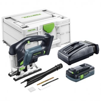 FESTOOL 576533 PSBC 420 EBI-PLUS GB CARVEX CORDLESS PENDULUM JIGSAW, 1X4.0AH BLUETOOTH BATTERY