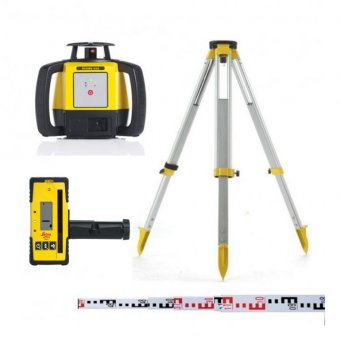 LEICA RUGBY 610 OUTDOOR LASER LEVEL KIT WITH 140 RECEIVER (ALKALINE)