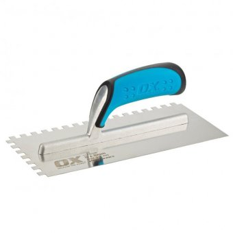 OX PRO NOTCHED TROWEL 12MM