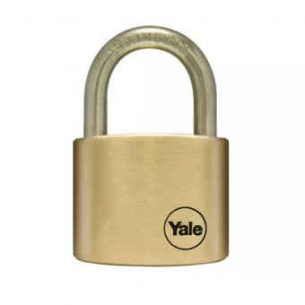 YALE YALY11050SS Y110 50mm Brass Padlock / Stainless Shackle