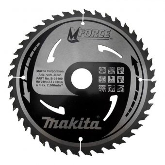 Makita B-08109 210mm x 30mm x 40T Circular Saw Blade Mforce