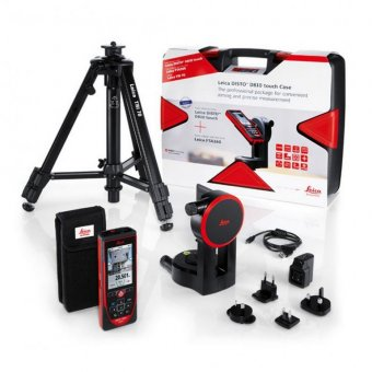 LEICA DISTO D810 TOUCH DISTANCE MEASURER WITH TRIPOD AND ACCESSORIES KIT 806648