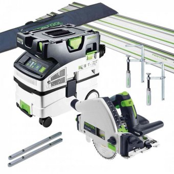 FESTOOL 657162 TS55R AND CTL MIDI 240V PLUNGE SAW AND DUST EXTRACTOR SET