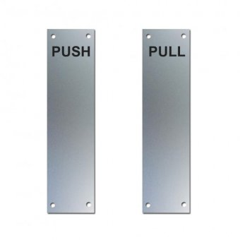 "ALUMINIUM ""PUSH"" AND ""PULL"" FINGER PLATE (SAA)"