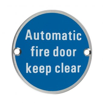 "ZOO ZSS12SS 76MM SSS ""AUTOMATIC FIRE DOOR KEEP CLEAR"""