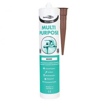BOND IT MULTI-MATE GP SILICONE - BROWN