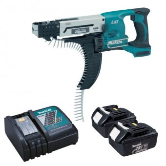 MAKITA DFR550RMJ 18V LI-ION AUTO FEED SCREWDRIVER WITH 2 X 4.0AH BATTERIES