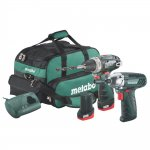 METABO COMBOSET2.3 10.8V 2.0AH COMBO KIT IN BAG