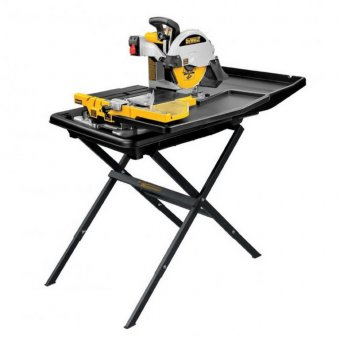DEWALT D24000S 250MM SLIDE TABLE WET TILE SAW AND LEG STAND