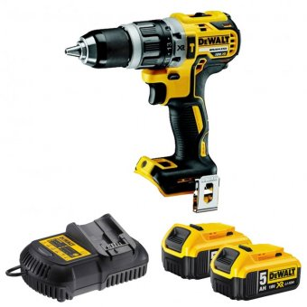 DEWALT DCD796P2-GB 18V 5.0AH LI-ION XR BRUSHLESS COMBI DRILL