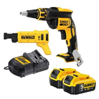 DEWALT DCF620P2K 18V 5.0AH XR BRUSHLESS DRYWALL GUN WITH COLLATED MAGAZINE