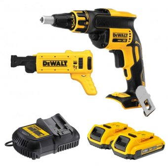 DEWALT 18V 2.0AH XR BRUSHLESS DRYWALL GUN WITH COLLATED MAGAZINE