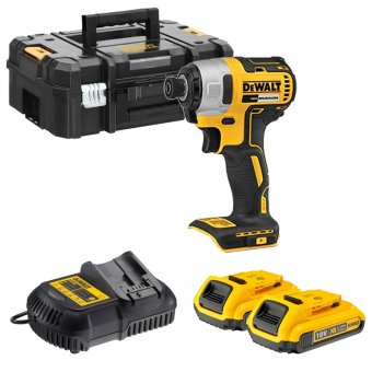 DEWALT DCF787D2-GB 18V BRUSHLESS IMPACT DRIVER WITH 2 X 2.0AH BATTERIES