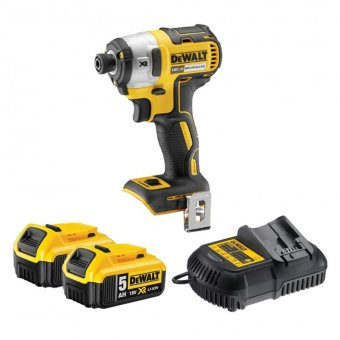 DEWALT DCF887 18V XR BRUSHLESS IMPACT DRIVER WITH 2 X 5.0AH BATTERIES