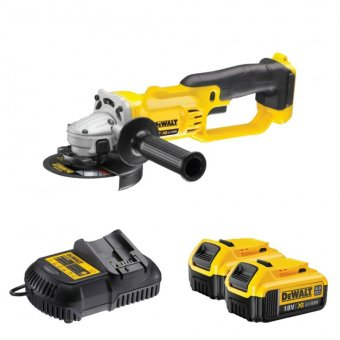 DEWALT DCG412M2 18V 125MM CORDLESS ANGLE GRINDER 4.0ah batteries