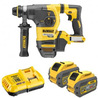 DEWALT DCH333X2-GB 54V SDS PLUS HAMMER DRILL WITH 2 X 54V 9.0AH BATTERIES