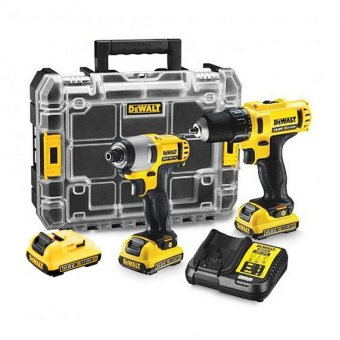 DeWalt DCK211D3T 10.8V Li-ion Drill Driver And Impact Driver Twin Pack With 3 X 2.0Ah Batteries