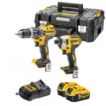 DEWALT DCK266P2T 18V LI-ION BRUSHLESS TWIN PACK WITH 2 X 5.0AH LI-ION BATTERIES IN TSTAK CASE