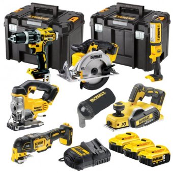 DEWALT DCK665P3T-GB 6 PIECE 18V 5.0AH LI-ION XR CORDLESS BRUSHLESS KIT
