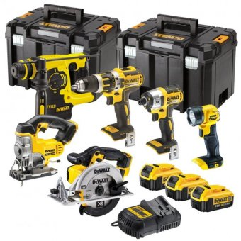 DEWALT DCK699 18V XR 6 PIECE BRUSHLESS KIT WITH 3 X 18V 4.0AH LI-ION BATTERIES