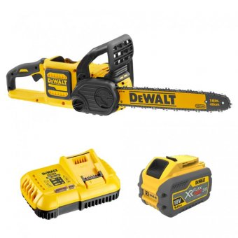 DEWALT DCM575X1 54V XR FLEXVOLT 40CM CHAINSAW WITH 1 X 9.0AH BATTERY AND CHARGER
