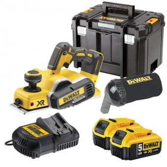 DEWALT DCP580P2-GB 18V BRUSHLESS CORDLESS PLANER WITH 2 X 5.0AH BATTERIES