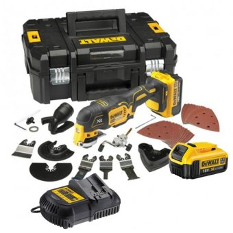 DEWALT DCS355M2 18V XR BRUSHLESS MULTI TOOL WITH 2 X 4.0AH LI-ION BATTERY AND 35 PIECE ACCESSORY SET